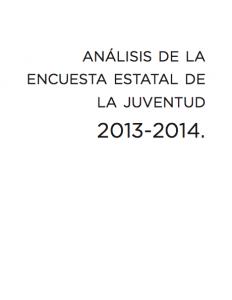 Book Cover: Análisis de la Encuesta Estatal de la Juventud 2013-2014 en el Estado de México