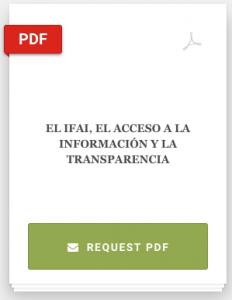 Book Cover: EL IFAI, EL ACCESO A LA INFORMACIÓN Y LA TRANSPARENCIA