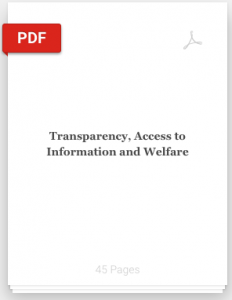 Book Cover: Transparency, Access to Information and Welfare